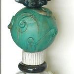 Stele, Keramik, Gartendekoration, Unikat, Spezialanfertigung