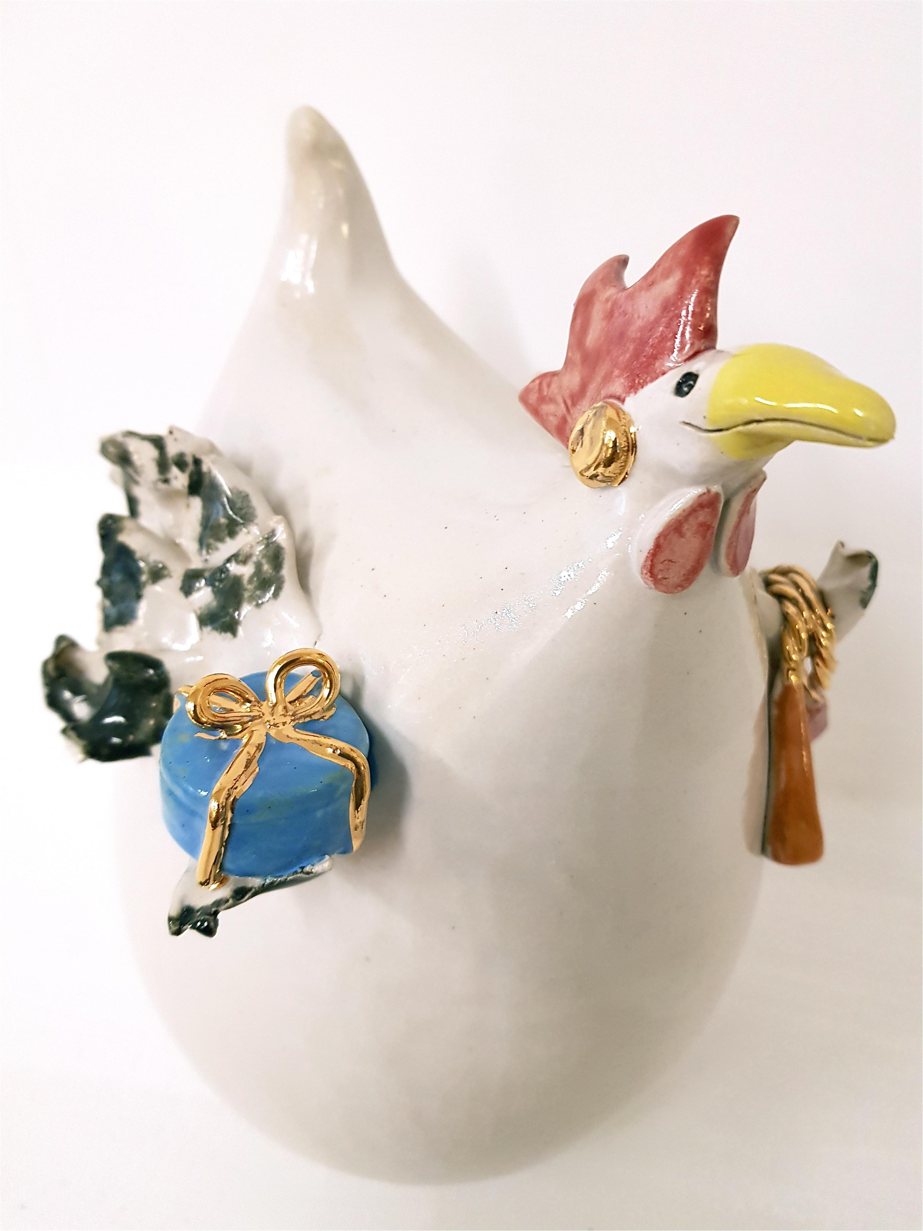 CARTIER NO. 1 Keramikhuhn, Unikat, Keramik, Crazy Chick, la ceramica, Basel