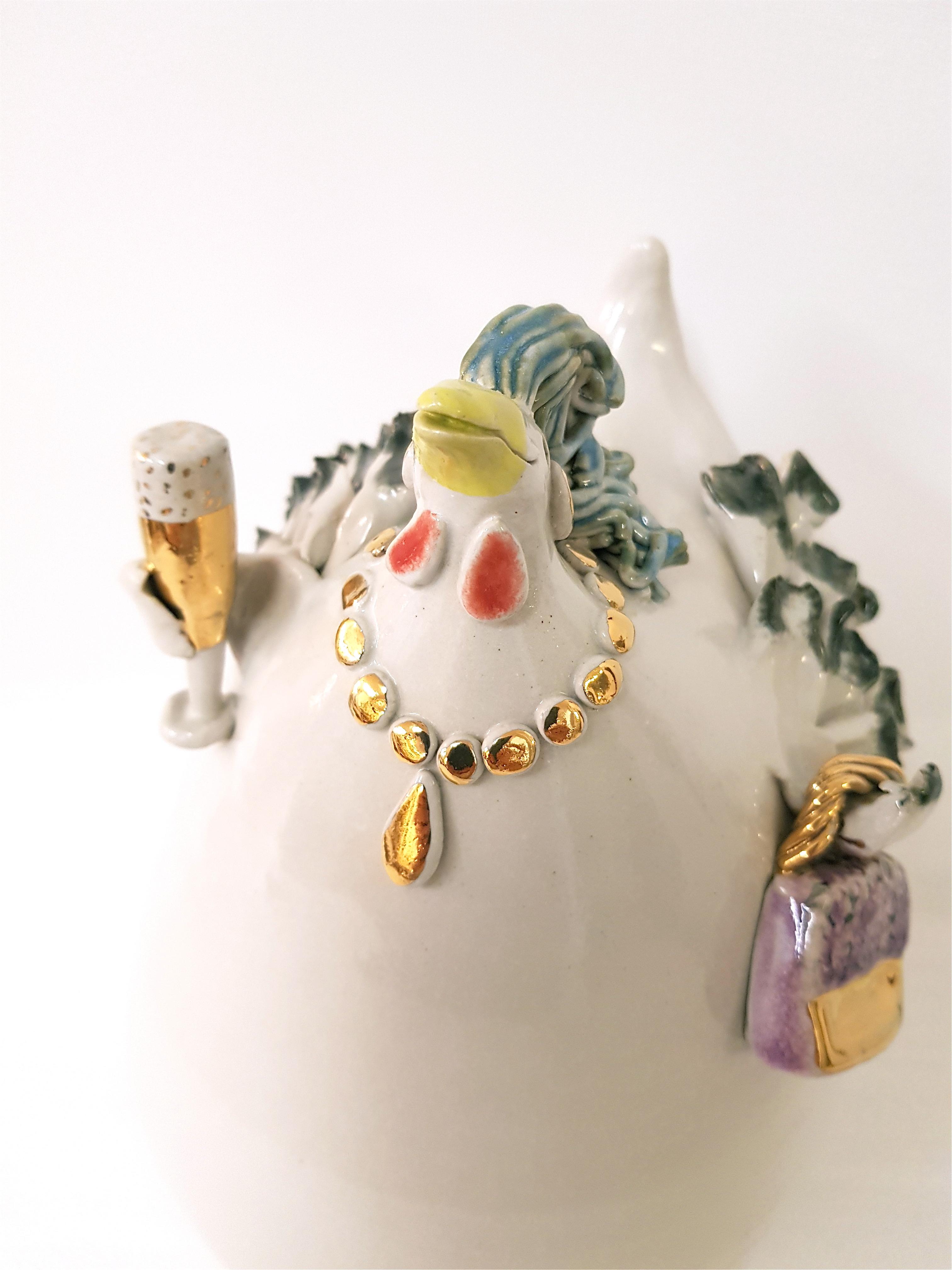 Keramikhuhn, Unikat, Keramik, Crazy Chick