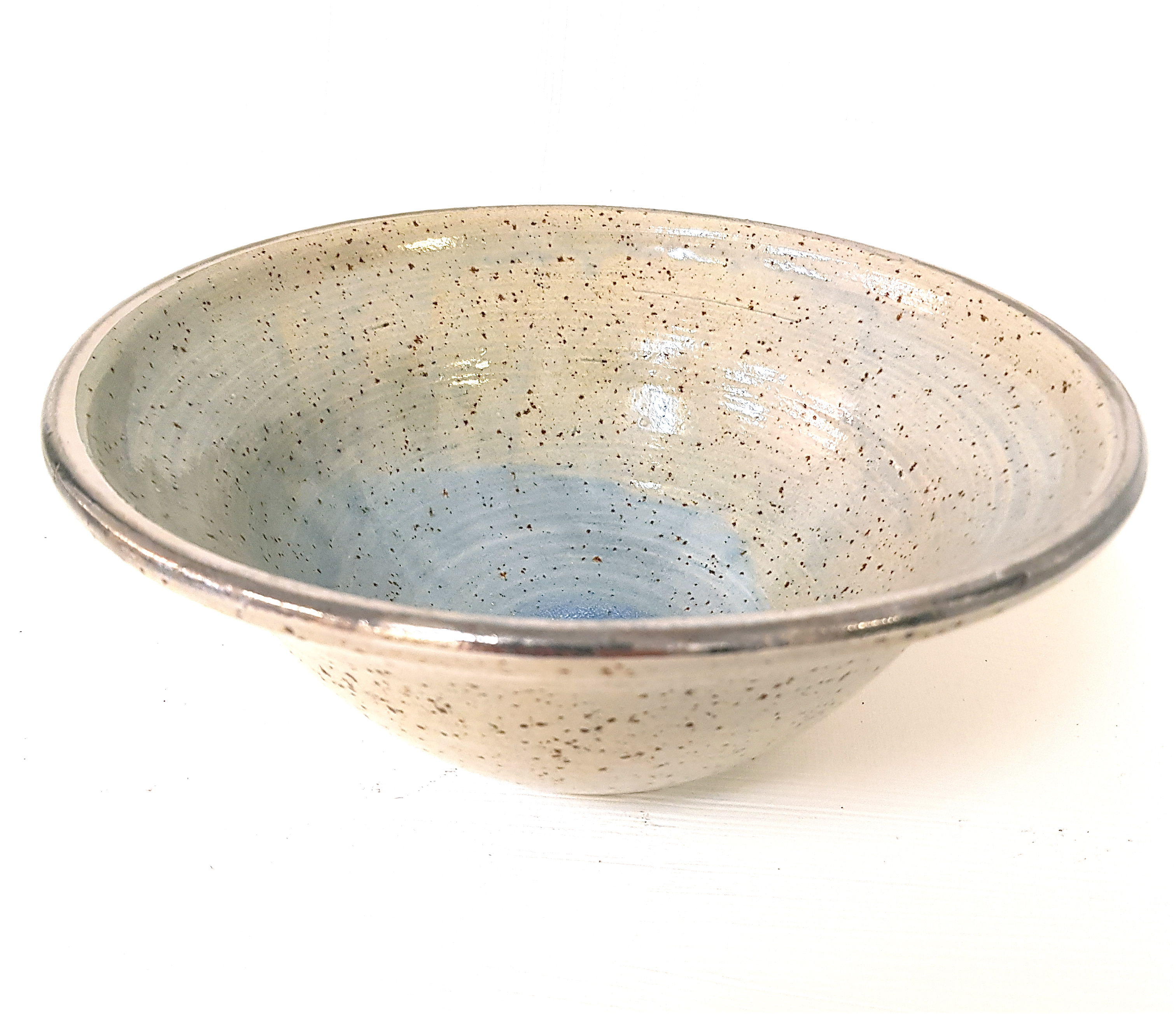 Töpferei la Ceramica, Schale mit Silberrand, Schale, Unikat, Keramik