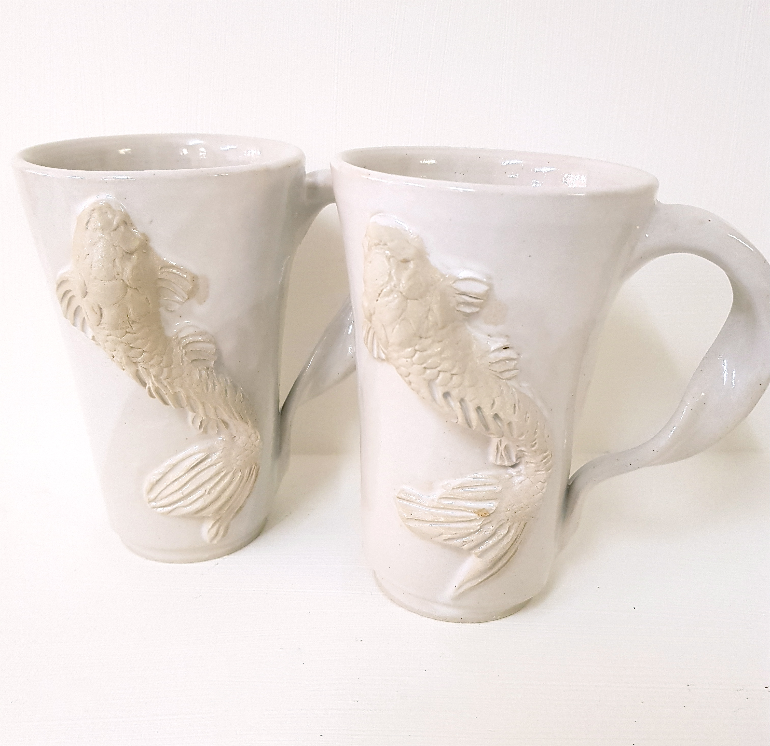 "Henkeltasse ""KOI"", Unikat, Tasse, Keramik, Steinzeug, töpfern"