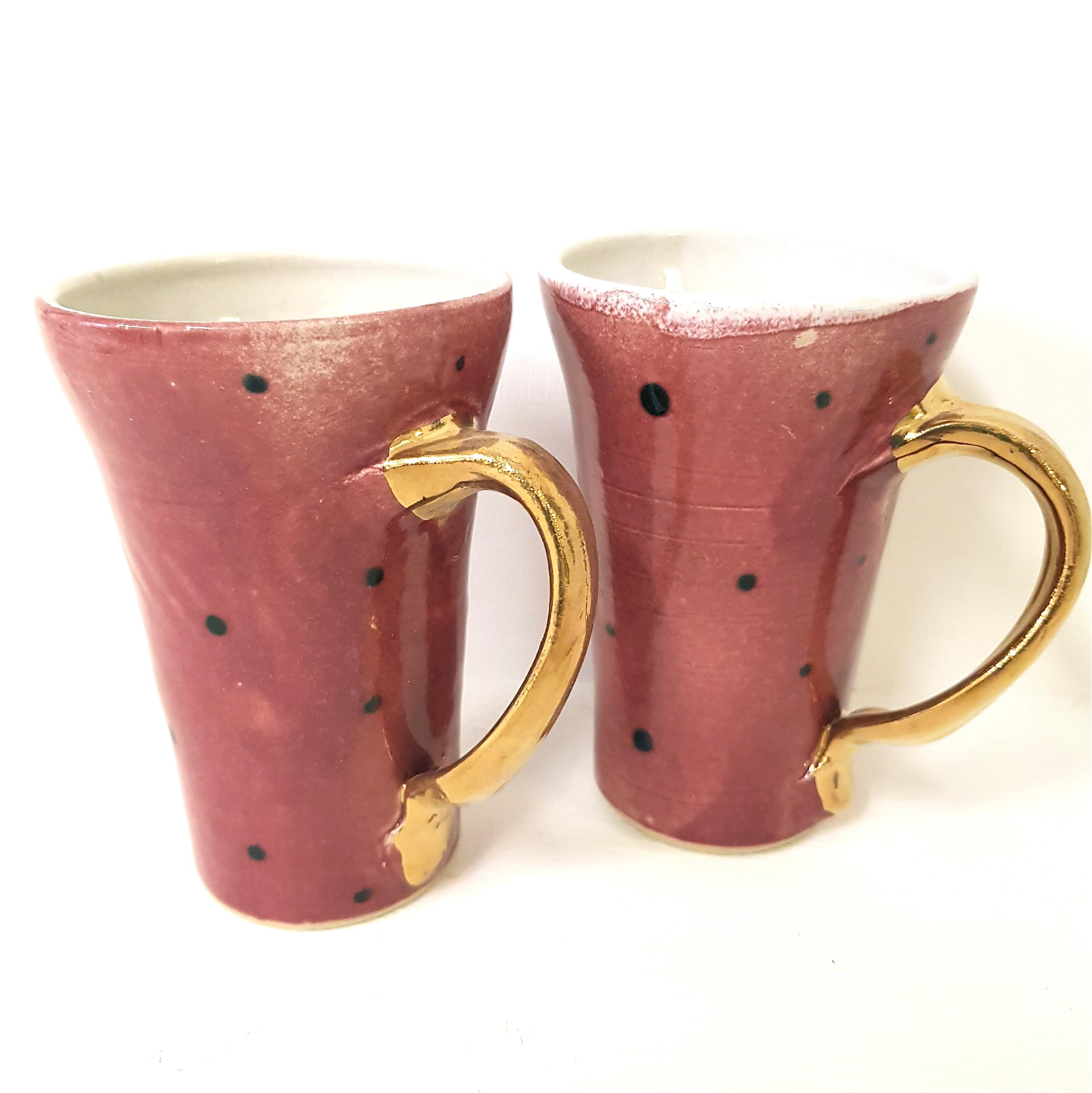 "Henkeltasse ""himbeer"", Henkeltasse,Unikat, Tasse, Keramik, Steinzeug, töpfern, handmade"