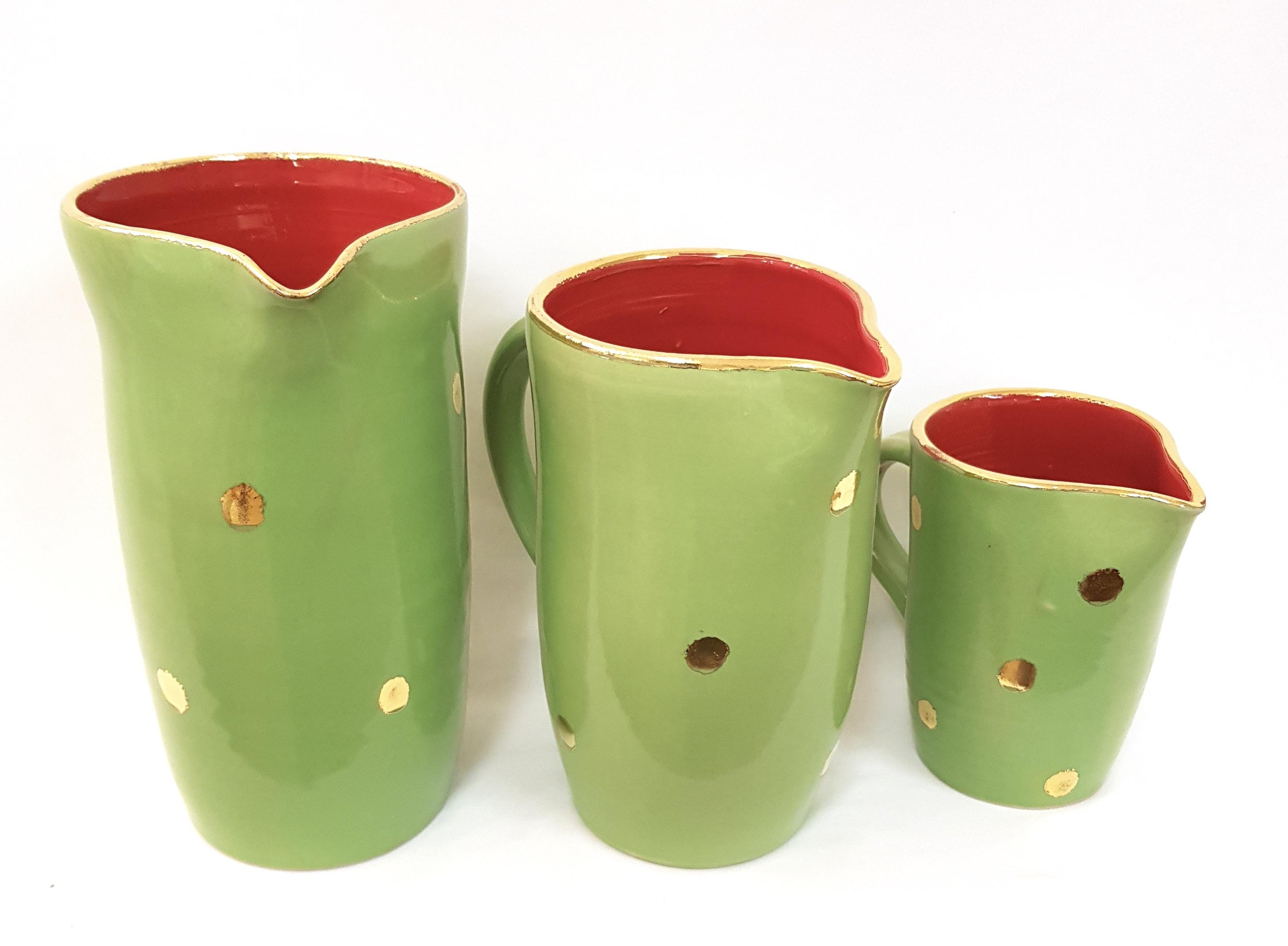 Krüge 3er Set, Keramik, Unikat, Töpferei la Ceramica Basel, Töpferkurse, Shop, Teamevent