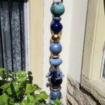 Stele, Gartenstele, Keramik, Gartendekoration, Unikat, Spezialanfertigung, La Ceramica, Töpferei, Basel