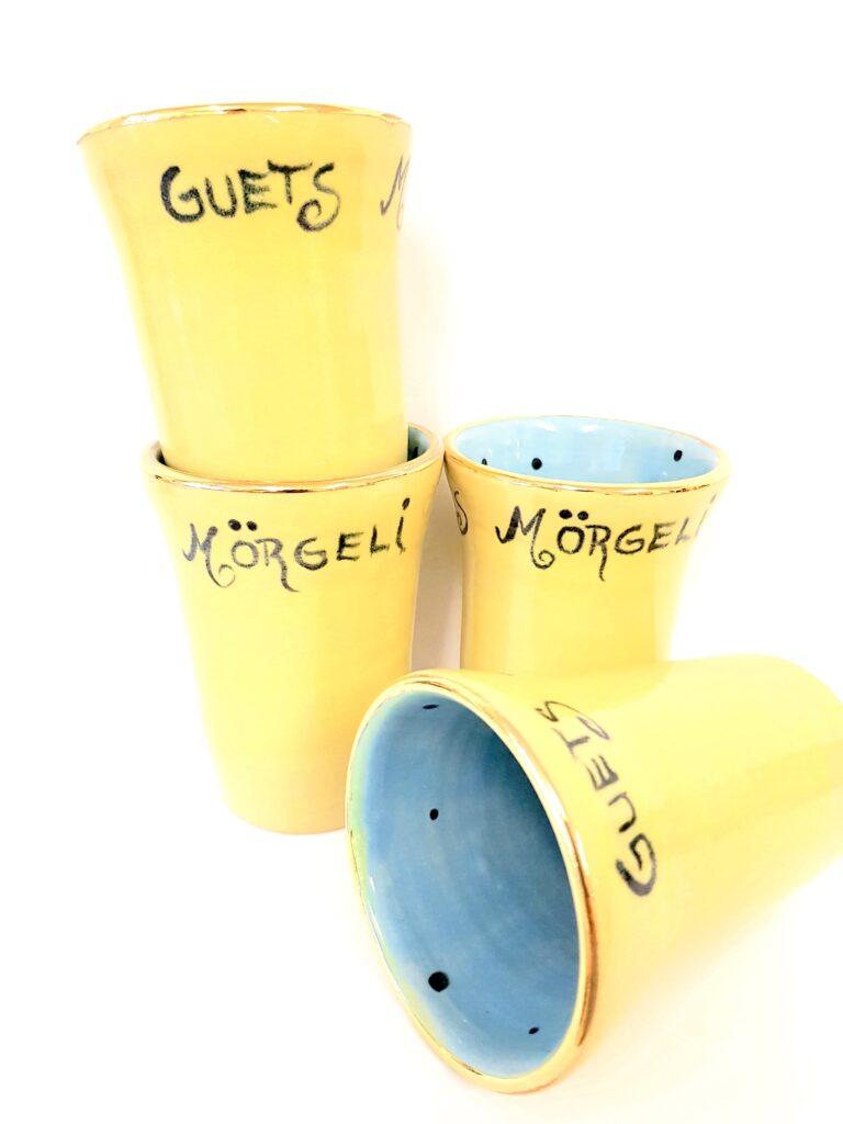 Keramikbecher, Töpferei, la Ceramica Basel, Töpferkurse, Shop, Keramik