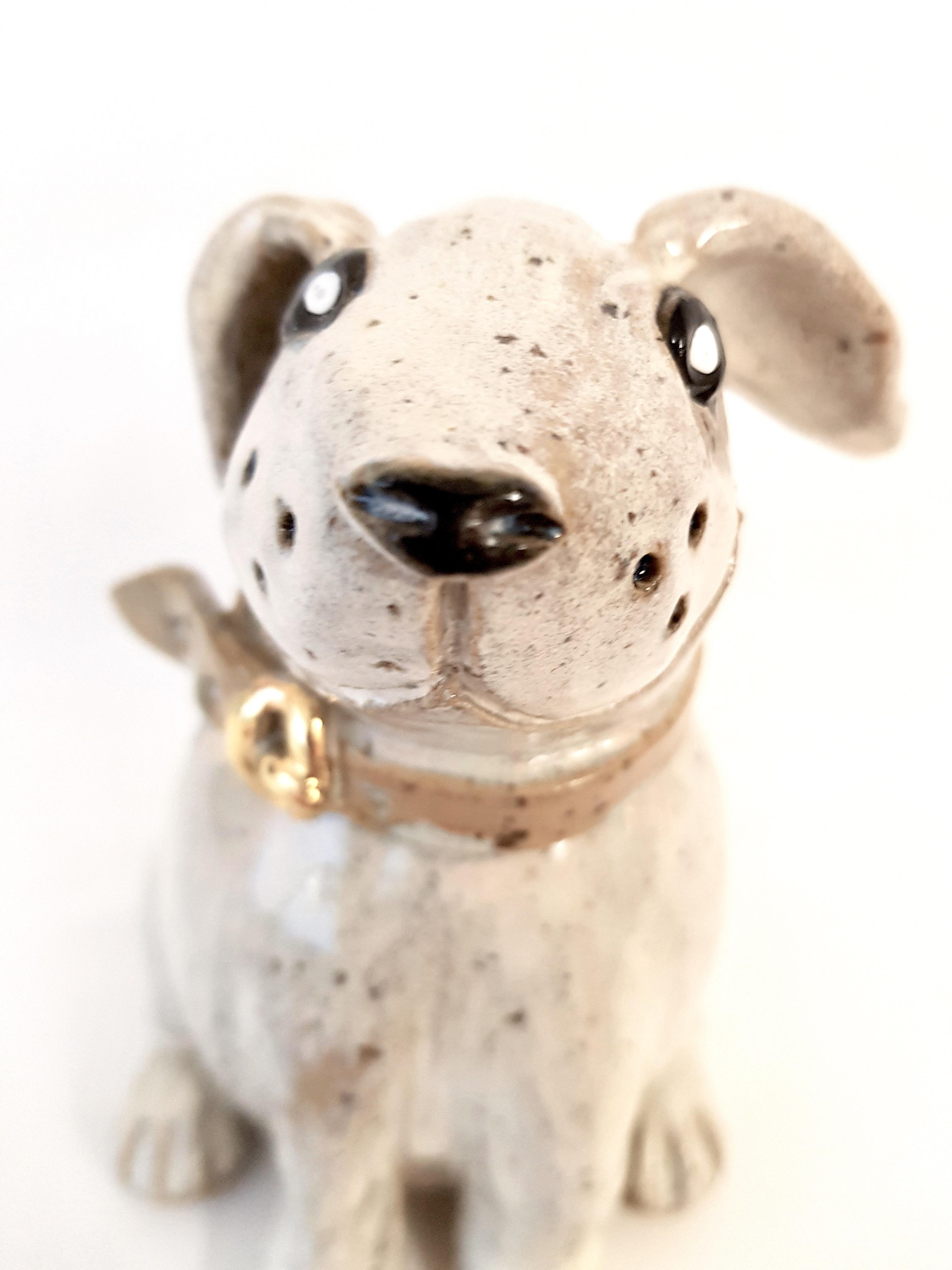 Keramikhund , Unikat, handmodelliert, handbemalt, Töpferei, La ceramica Basel, Töpferkurse