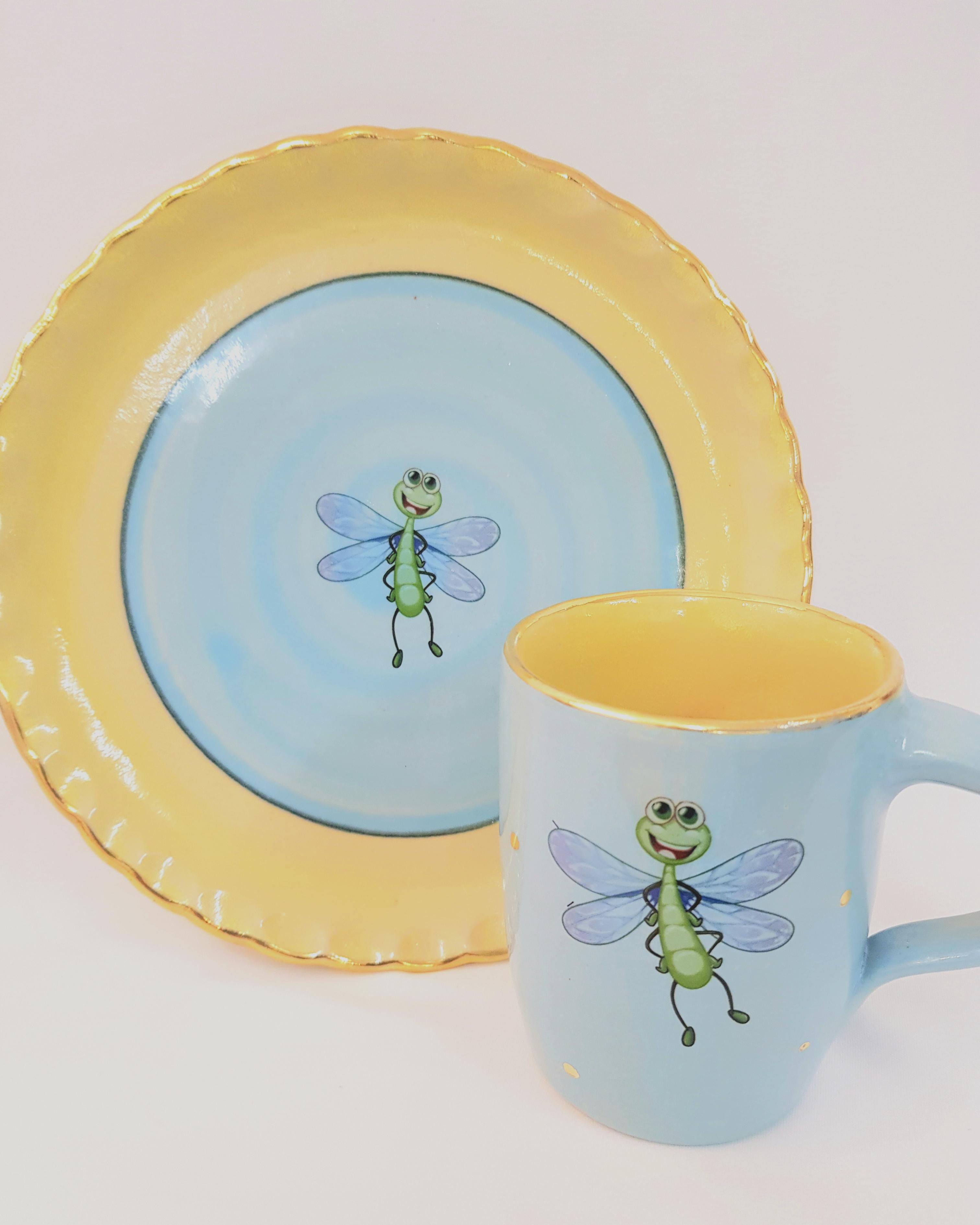 Kindergeschirr, Keramik, Töpferei la ceramica Basel, online shop, Kurse