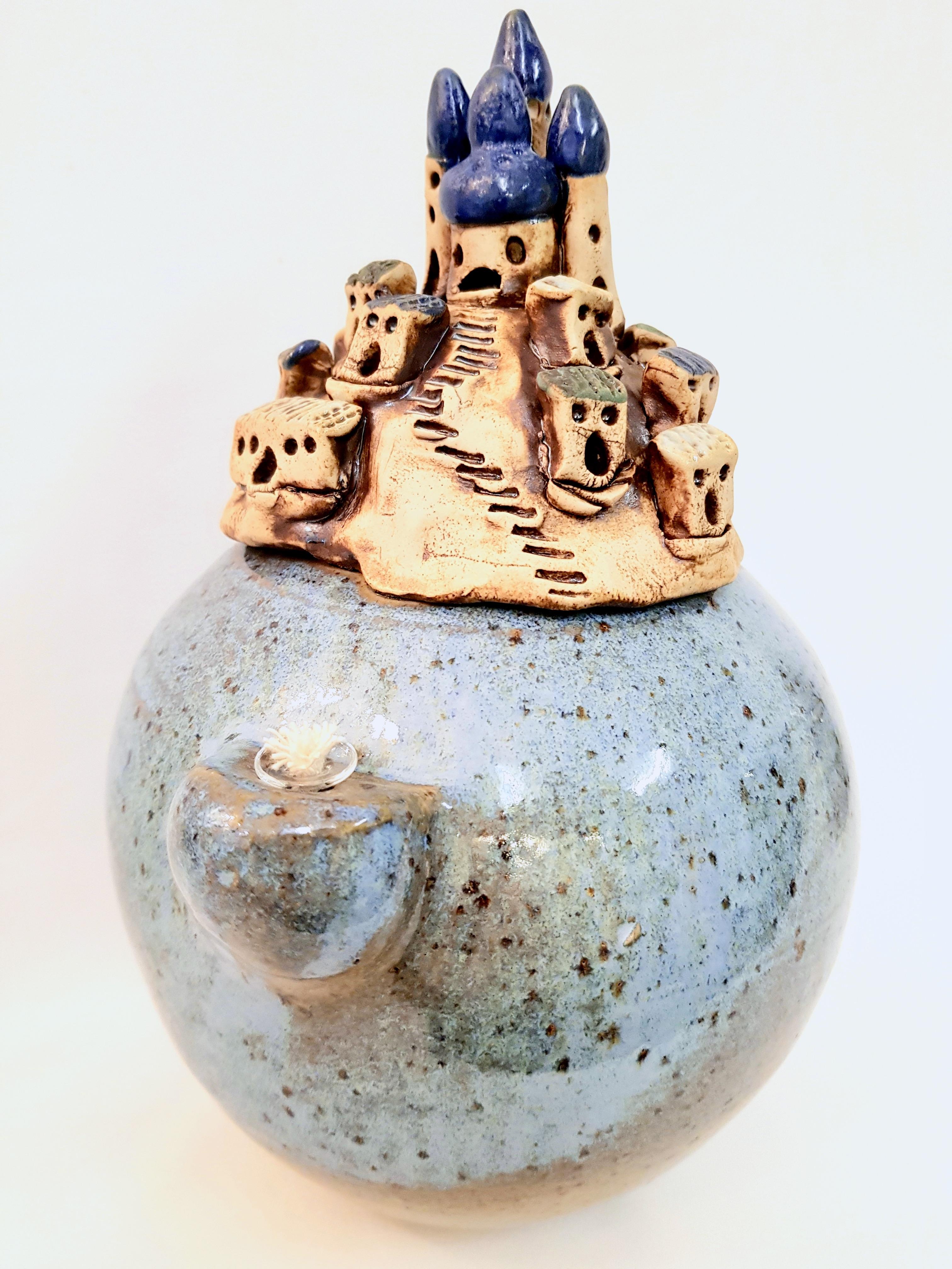 Oellampe Keramik, Unikat, handgedreht, La Ceramica Basel, Töpferei, online-shop, Kurse, Teamevent