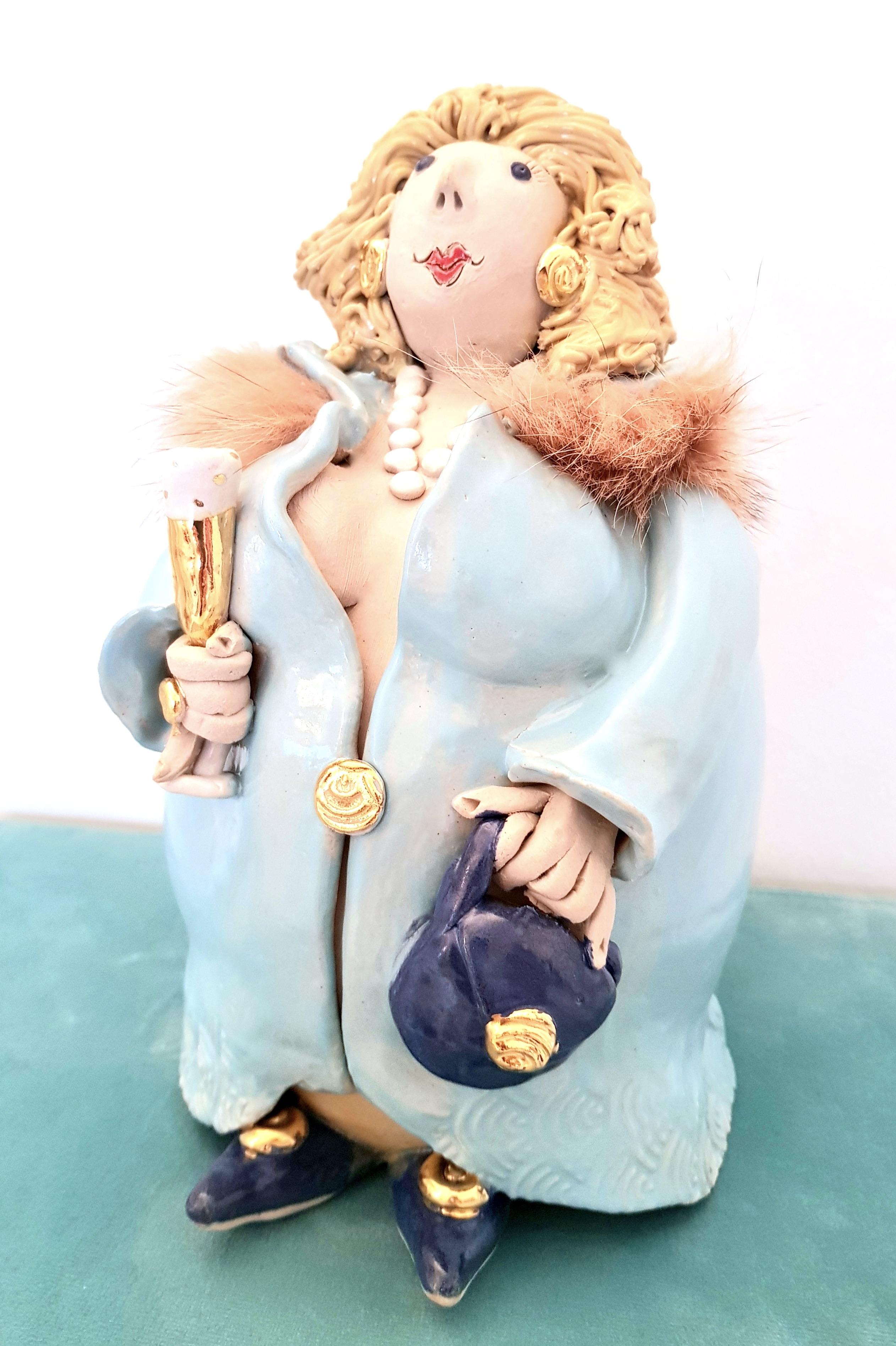 Diva Bluette, Töpferei la Ceramica Basel, Unikat, Keramik, Frauenpower, Töpferkurse, Teamevent