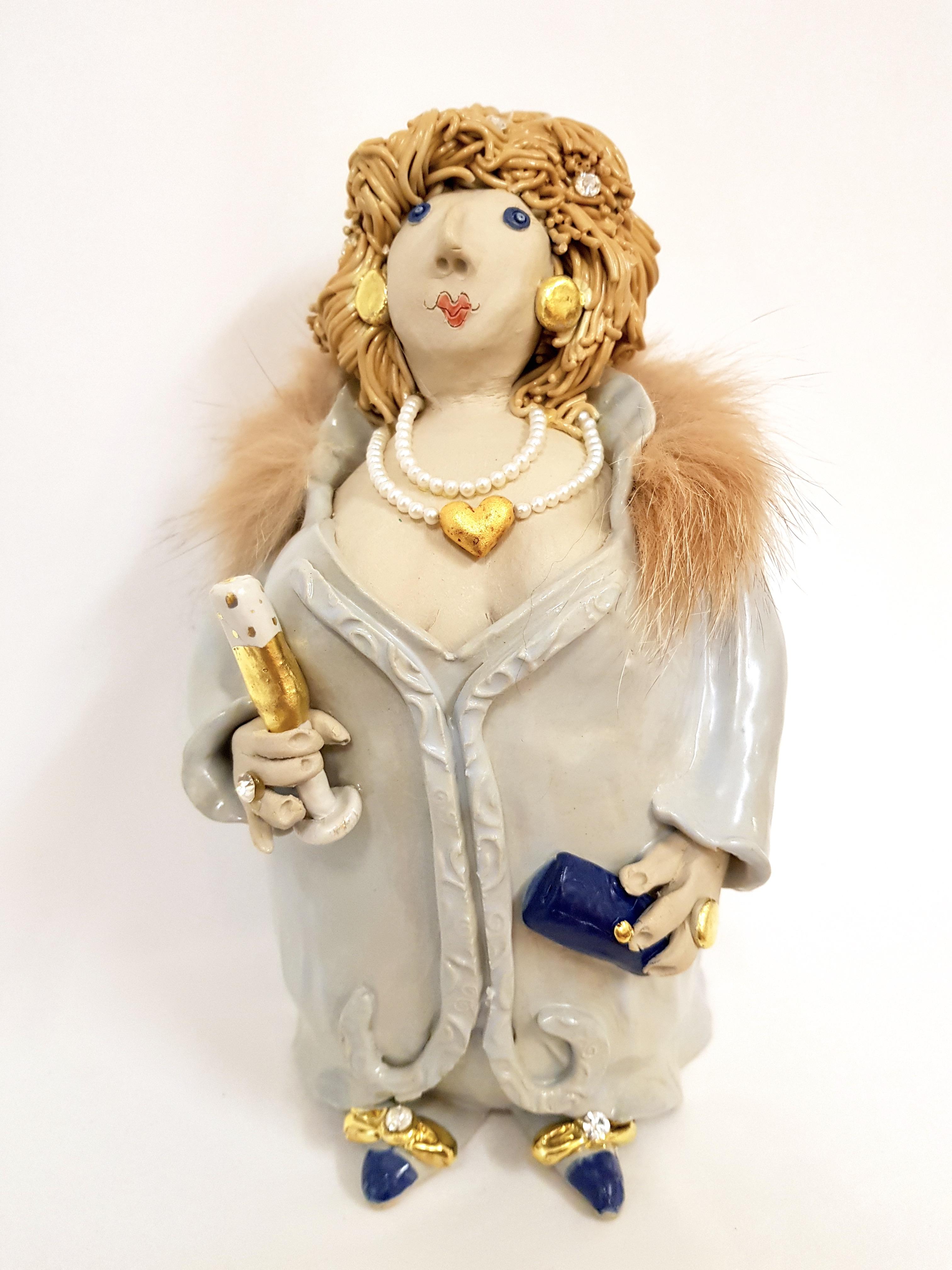 Diva Babyblue, Töpferei la Ceramica Basel, Unikat, Keramik, Frauenpower, Töpferkurse, Teamevent