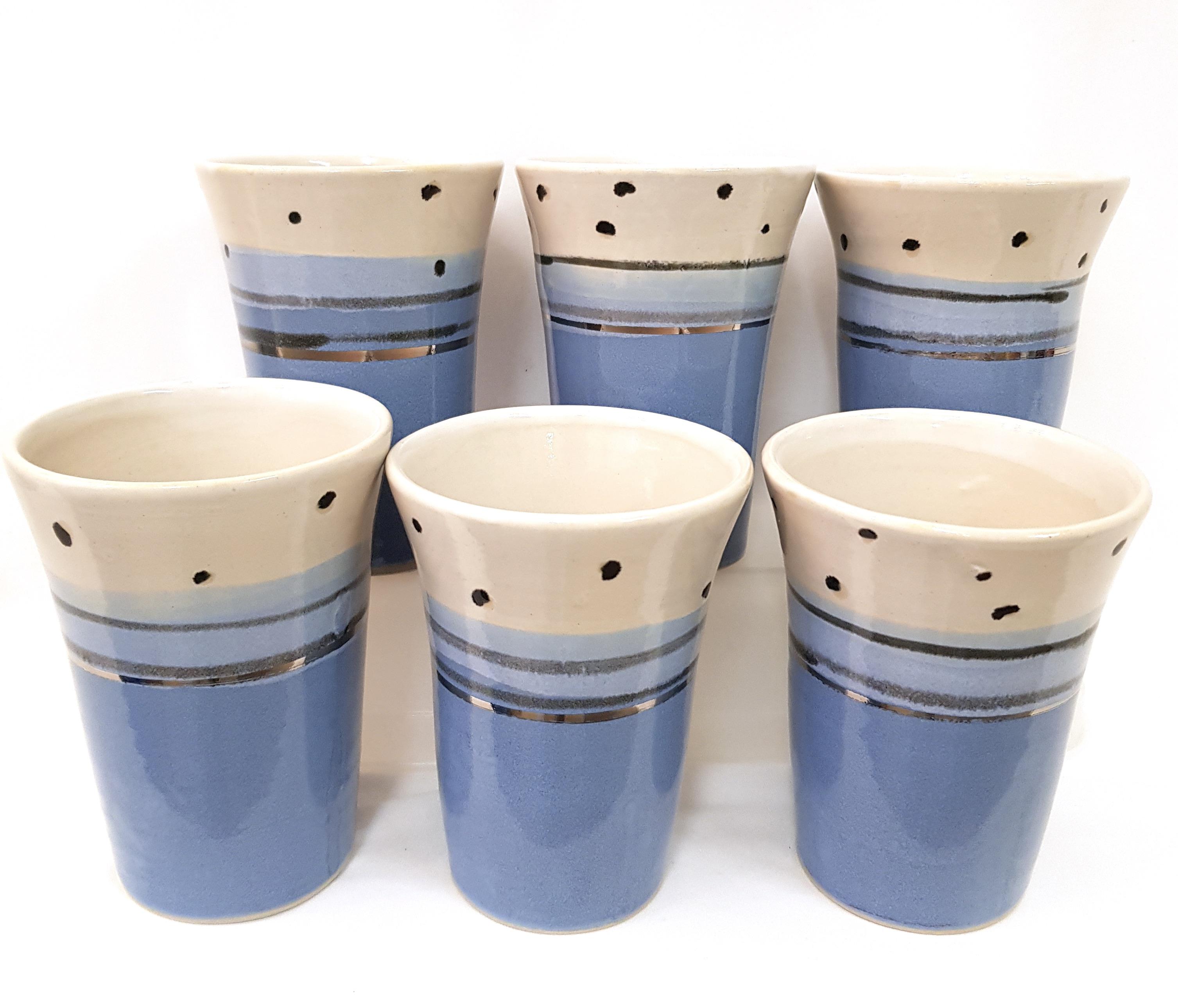 Becher Keramik, Unikat, Töpferei la Ceramica Basel, Töpferkurse, Shop, Keramik