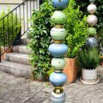 Stele, Keramik, Gartendekoration, Unikat, Spezialanfertigung, Töpferei, La Ceramica, Basel